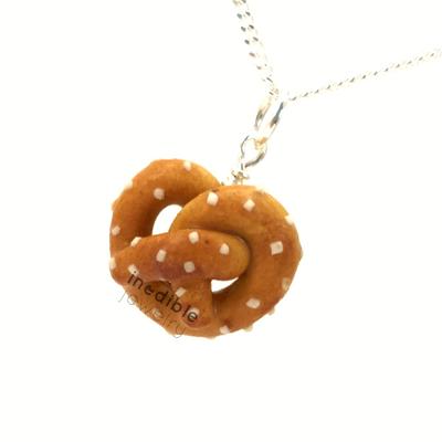 pretzel necklace by inedible jewelry