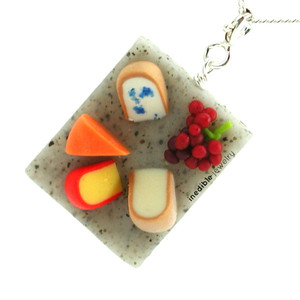 cheese board necklace by inedible jewelry
