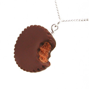 peanut butter cup necklace by inedible jewelry