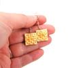 saltine cracker earrings by inedible jewelry