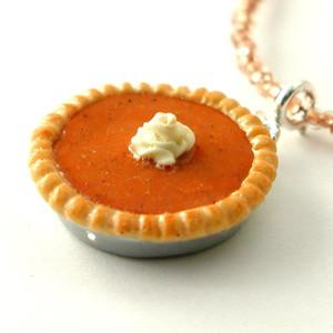 pumpkin pie necklace by inedible jewelry