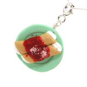 manicotti necklace by inedible jewelry