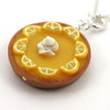lemon chiffon pie necklace by inedible jewelry