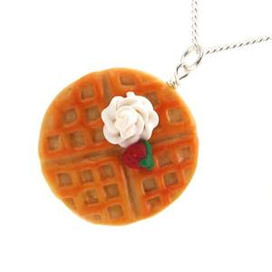 belgian waffle necklace