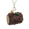 yule log cake necklace by inedible jewelry