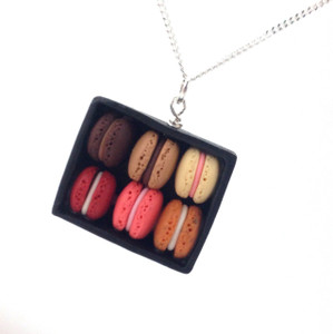 box of macarons necklace by inedible jewelry