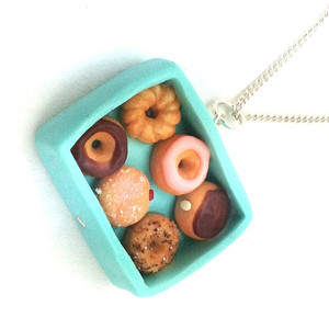 box of donuts necklace