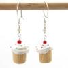 birthday vanilla cupcake earrings by inedible jewelry