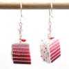 pink ombre earrings by inedible jewelry