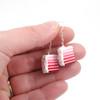 Valentine's cake earrings by inedible jewelry