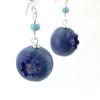 blueberry earrings by inedible jewelry