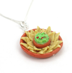 chips and guacamole necklace by inedible jewelry