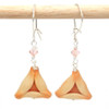 apricot hamantaschen earrings by inedible jewelry