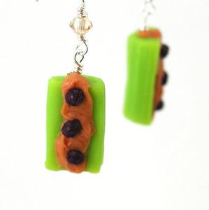 ants on a log earrings by inedible jewelry