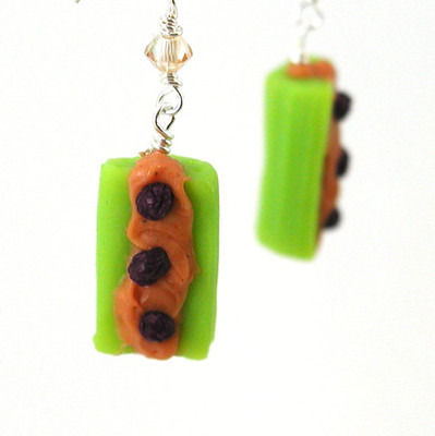 ants on a log earrings by inedible jewelry