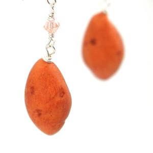 sweet potato earrings by inedible jewelry
