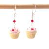Valentine's cupcake earrings by inedible jewelry