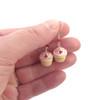 heart cupcake earrings by inedible jewelry