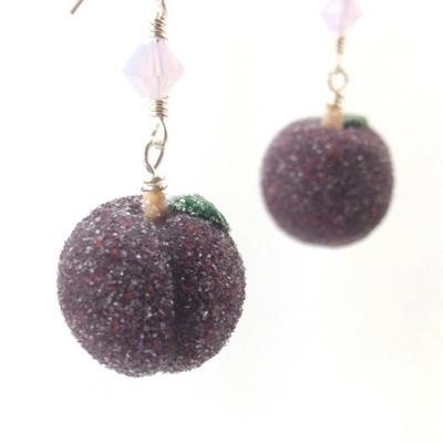 sugar plum earrings by inedible jewelry