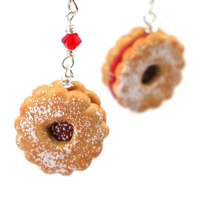 linzer tart earrings by inedible jewelry