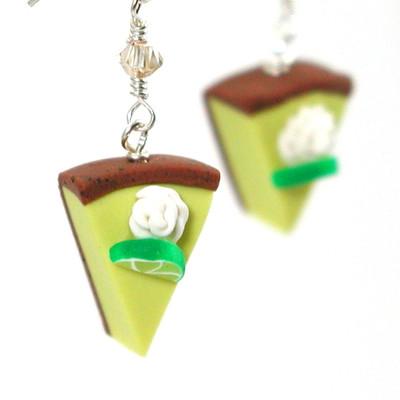 key lime pie slice earrings by inedible jewelry