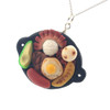bandeja paisa necklace by inedible jewelry