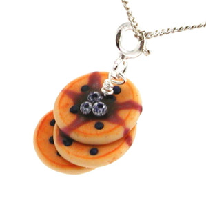 blueberry pancakes necklace