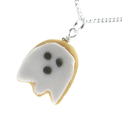 ghost cookie necklace by inedible jewelry