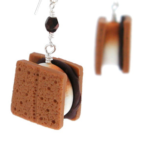smores earrings by inedible jewelry