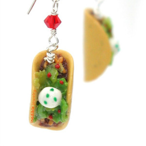 taco earrings  by inedible jewelry