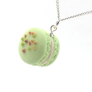 pistachio macaron necklace by inedible jewelry