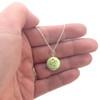 pistachio macaron necklace by inedible jewelry