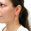 Santa cookie earrings by inedible jewelry