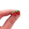 strawberry studs by inedible jewelry
