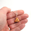 apricot hamantash necklace by inedible jewelry