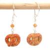 soft pretzel earrings by inedible jewelry