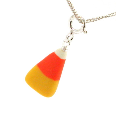 candy corn necklace by inedible jewelry