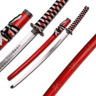 SAMURAI SWORD (BLACK, WHITE AND RED CORD)