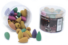 Tub of Assorted Back Flow Incense Cones (aprox 45 Cones)