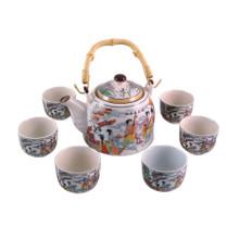 Chinese Tea Set - White Ceramic - Traditional Musicians - Gift Box