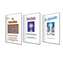 Venta Especial De Los 3 Libros - La Serie Eucaristía - Los Libros Son: La Santa Misa, Hora Santa y En Adoracion