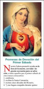 Inmaculado Corazon De Maria - Paquete de 25 Tarjetas - Spanish