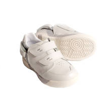 Hatchbacks Aspire Kids Shoe : White Leather/Light Gray: Clearance sizes 5c-3k