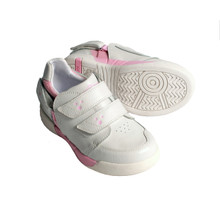 Hatchbacks Aspire Kids Shoe : White Leather/ Light Pink / Stars Accent: Clearance sizes 5c-3k