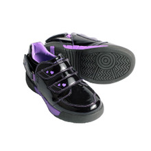 Hatchbacks Aspire Kids Shoe : Black Patent/Purple: Young Kids sizes 9c-3k