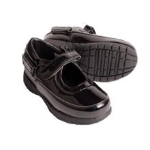 Hatchbacks Ava Girls Shoe : Patent Black Toddler sizes 5c-8c