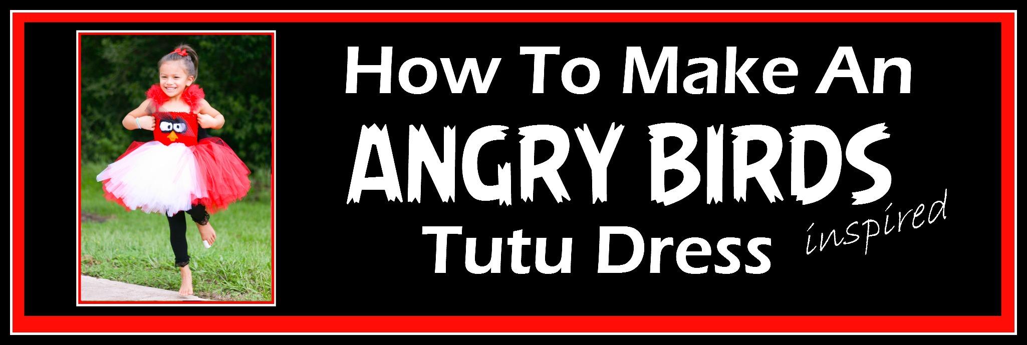 Red angry bird tutu dress tutorial | how to make a fluffy short.