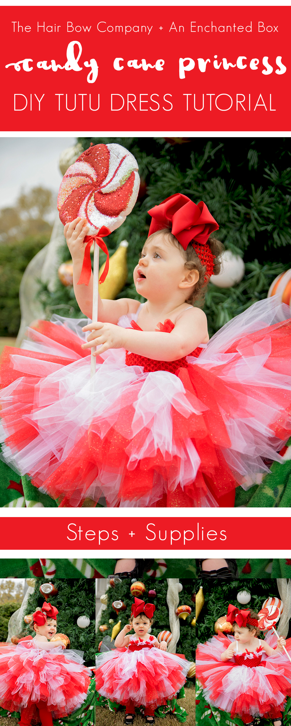 Blog caitlin from an enchanted box on etsy has created another darling tutu dress for us and is back on the blog this week this candy cane princess tutu dress solutioingenieria Choice Image