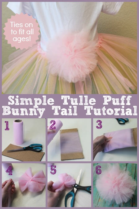 Tulle Puff Bunny Tail The Hair Bow Company