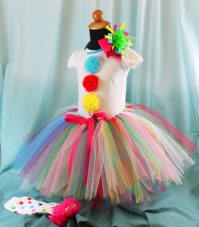 diy clown tutu & DIY Clown Costume - The Hair Bow Company